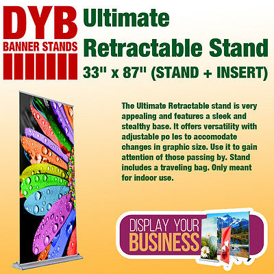 "Ultimate Retractable Stand 33""x 87"" (STAND + INSERT)"