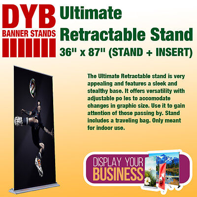 "Ultimate Retractable - 36"" x 87"" (STAND + INSERT)"