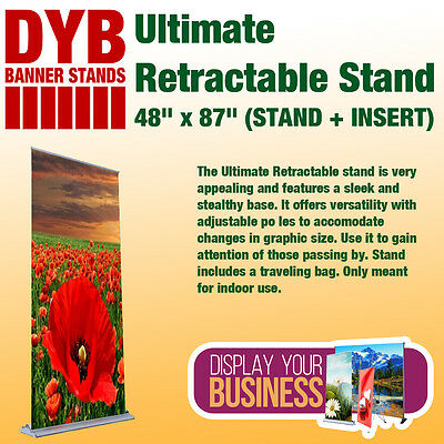 "Ultimate Retractable Stand 48""x 87"" (STAND + INSERT)"