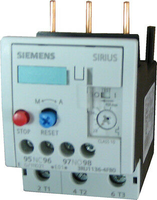 Siemens 3RU1136-4FB0 3 pole overload relay adjustable from 28- 40 AMPS