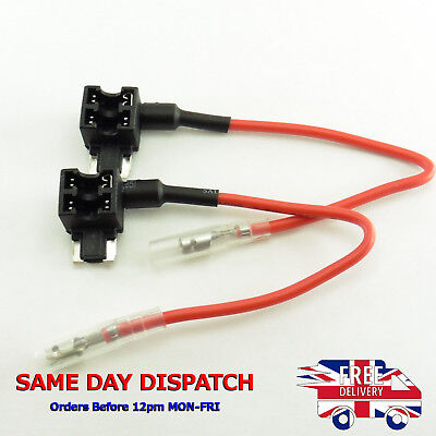 2X ADD Fuse Holder APS ATT ACN Piggy Tap Micro Blade Circuit Car Motor #G27-2