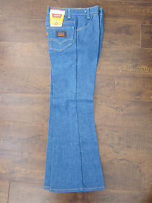 Vintage Kids NWT LEVI'S BELL BOTTOMS Sz11 (25.5 x 24.5) ~Orange Tab, 70's Blue