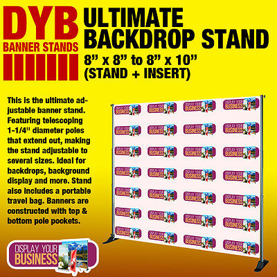 "Ultimate Backdrop Stand - 8"" x 8"" to 8"" x 10"" (STAND + INSERT)"
