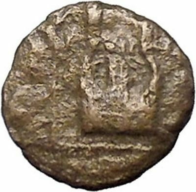 MYTILENE Lesbos Island  400BC Apollo Lyre Authentic Ancient Greek Coin  i47730
