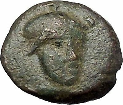 TROY Site Rare Authentic Ancient Greek Coin of ILION in TROAS 27BC ATHENA i47731