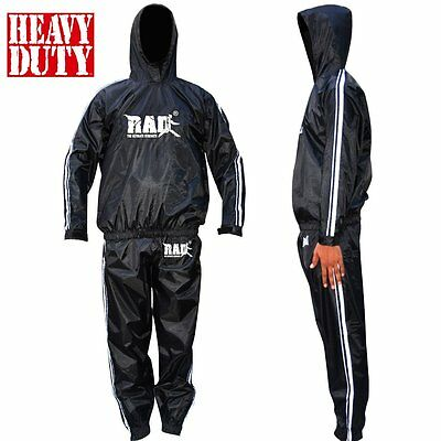 2Fit Sauna Sweat Suit Exercise Gym TrackSuit Fitness Weight Loss White With Hood