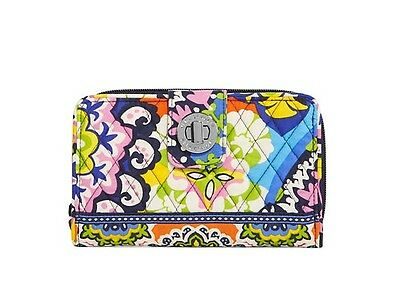 NEW Vera Bradley Turn Lock Wallet in Rio. SEALED.  Retail $49