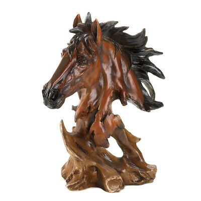 Stallion Horse Spirit Head Bust Statue Figurine
