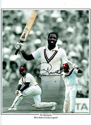 Viv RICHARDS Signed Autograph 16x12 West Indies Cricket Montage Photo AFTAL COA