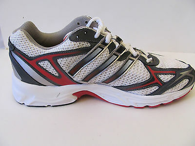 pretty nice a4ab4 2f6d5 Adidas Uraha White Silver Red Running Shoes Leather Mesh Mens US 8.5M UK 8