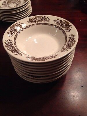 """Set Of 9 Royal China Sussex Cavalier Pattern Ironstone 6.5"""" Bowls"""
