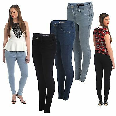 Kollache New Ladies Womens Skinny Slim Fit Denim Jeans Girls Stretchy Trousers