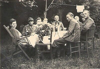 WWII German RP- Soldier- Officer- Girlfriend- Frau- Alcohol- Outdoor Party- 1944