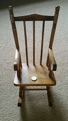 Vintage Doll's / Bear's Small Wooden Rocking Chair