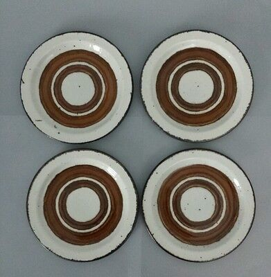 """STONEHENGE MIDWINTER Earth 4 Bread & Butter Plates Vintage by Wedgwood 7"""""""