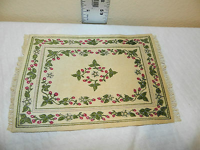 "DOLL HOUSE RUG 9 1/2"" X 6 1/2"" CRUSH VELVET"