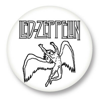 "Pin Button Badge Ø25mm 1"" Led Zeppelin Rock UK Led Zep Page Plant"