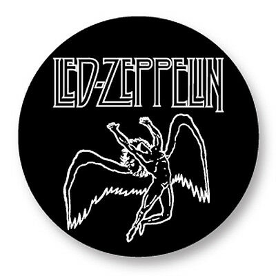 Pin Button Badge Ø38mm Led Zeppelin Rock UK Led Zep Page Plant