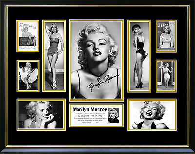 New Marilyn Monroe Signed Framed Memorabilia