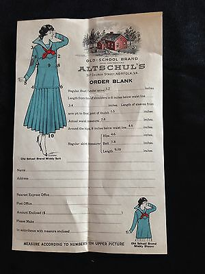 Altschul's Old-school Brand Order Blank Norfolk, Va For Sewing