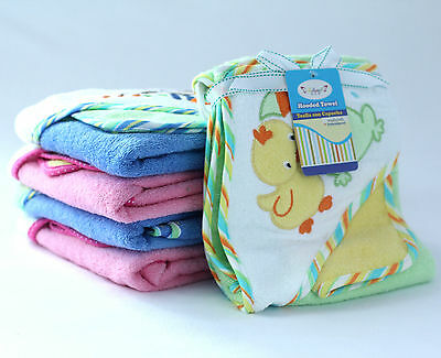 NEW Superior Quality 350GSM 100% cotton Baby Kid Hooded Towel 16 Cute designs