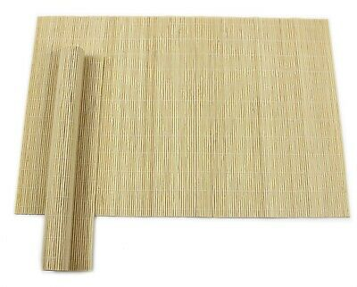 Set Of 2 Placemats Table Mats Bamboo Eastern Extra Large Tableware Wood Dining