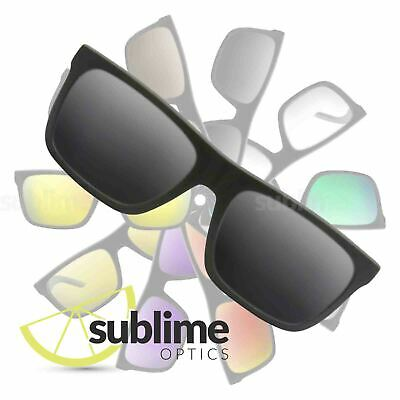 POLARIZED Black (Dark Grey) Replacement Lenses for Arnette Dropout  ~ Charcoal