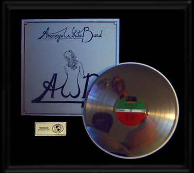 Average White Band Awb  Rare Gold Record Platinum  Disc Lp Album Frame