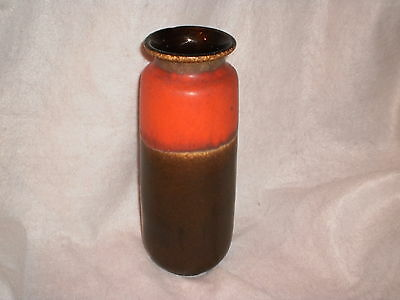 Scheurich West Germany Mid Century Art Pottery Vase 206-27 10 1/2 inches