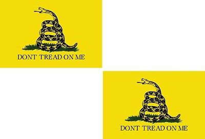 "Gadsden Flag American Don't Dont Tread on Me USA Vinyl Sticker Decal 3"" Set OF 2"