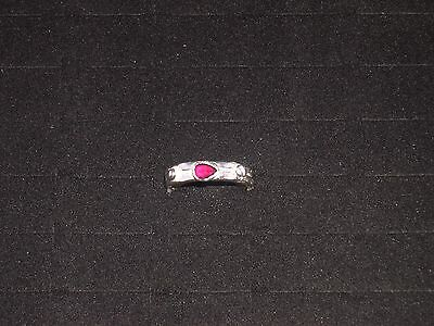 Pure Silver Ruby Ring - Size 10