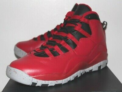 outlet store 3af2c f0338 Air Jordan Retro 10 X Bulls Over Broadway Red Sneakers Boy s GS Size 3 4 7
