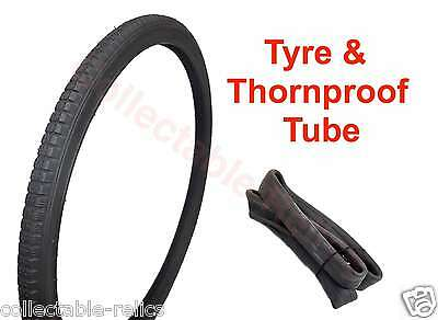 """20 X 1 3/8 Bike Tyre & Thornproof Tube 37-451 Sulky Bicycle """" Wheelchair 845A"""