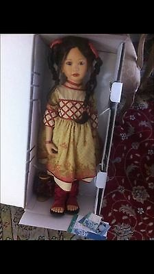 "32"" tall porcelain doll by Catharina & Dwi Saptono for Masterpiece Galleries"