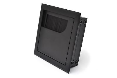 80 x 80 Black Desk Cable Tidy Outlet Metal SQUARE CUBE GROMMET INSERT