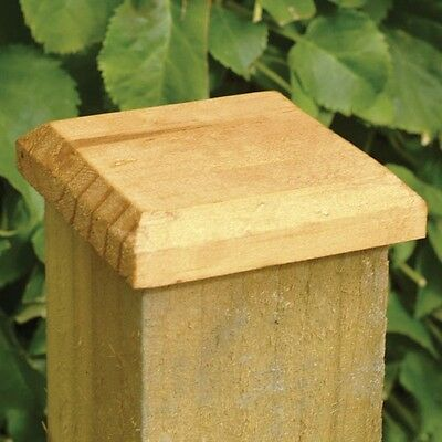 5 PACK X 96mm TREATED GREEN FENCE POST CAPS FOR 75mm POSTS 3X3 DECKING