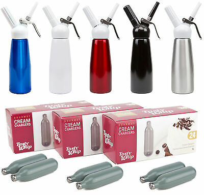 Whipped Cream Chargers 8g Nitrous Oxide N2o Tasty whip Canisters 1/2L Dispenser