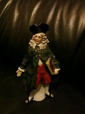 Antique Porcelain German Dresden Figurine of Man with Book by Volkstedt