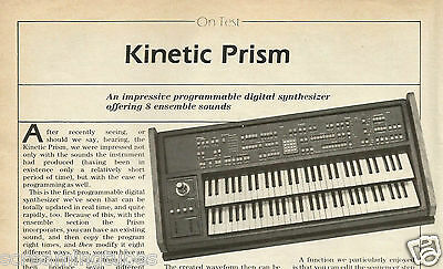 Kinetic Prism Programmable Digital Synthesizer Review Print Ad