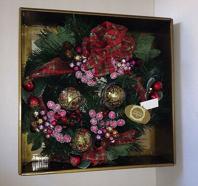 Waterford HOLIDAY HEIRLOOMS Traditional Tartan Christmas Wreath