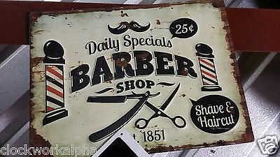 BARBER SHOP SIGN Shave Oster Clippers Hair Cut Comb Nail Polish Flat Iron Dryer