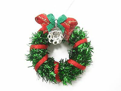 Dolls House Miniature Christmas Decoration Green Wreath Holly Ornament X000 7210
