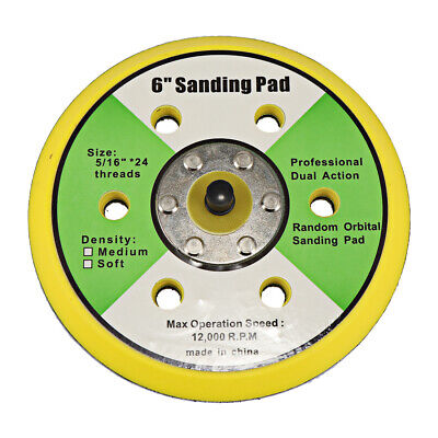 "6"" Dual Action Random Orbital Sanding Pad 12000RPM Sander Polishing Pad"