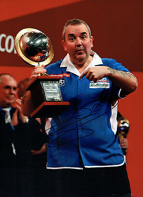 The POWER Phil TAYLOR Signed Autograph Darts Champion 16x12 Photo AFTAL COA