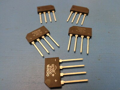 (5) GBL06 Diode Glass Pass Bridge Rectifier 4 amp 600V Single Phase Through Hole