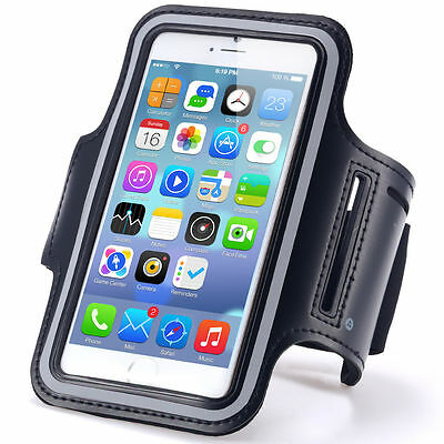 "iPhone 6 4.7"" Black Premium Sports Armband Cover Case Running Gym Workout"