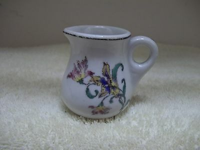 1920's Restaurant ware Lambert Scammell China White Floral Personal Size Creamer