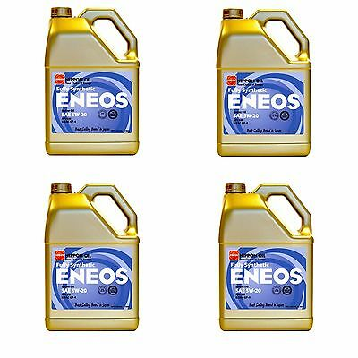 Eneos High Performance SAE 5W20 Full Synthetic Motor Oil 4.73L x4 Jugs