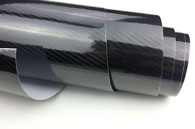 5D Deep Gloss Carbon Fibre Auto Vinyl Wrap Car Auto Vehicle Film - A4 Sheet