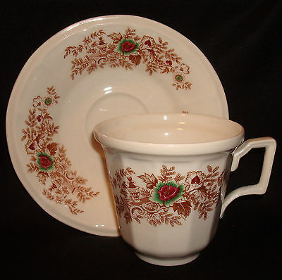 Iroquois China Greenfield Village Sarah Jordan Henry Ford Museum Cup & Saucer